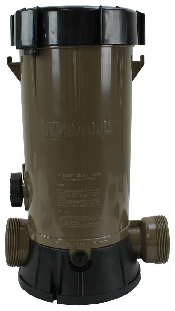 Hydro Tools 8750 Automatic Inline Above Ground Swimming Pool Chlorinator Feeder Ebay