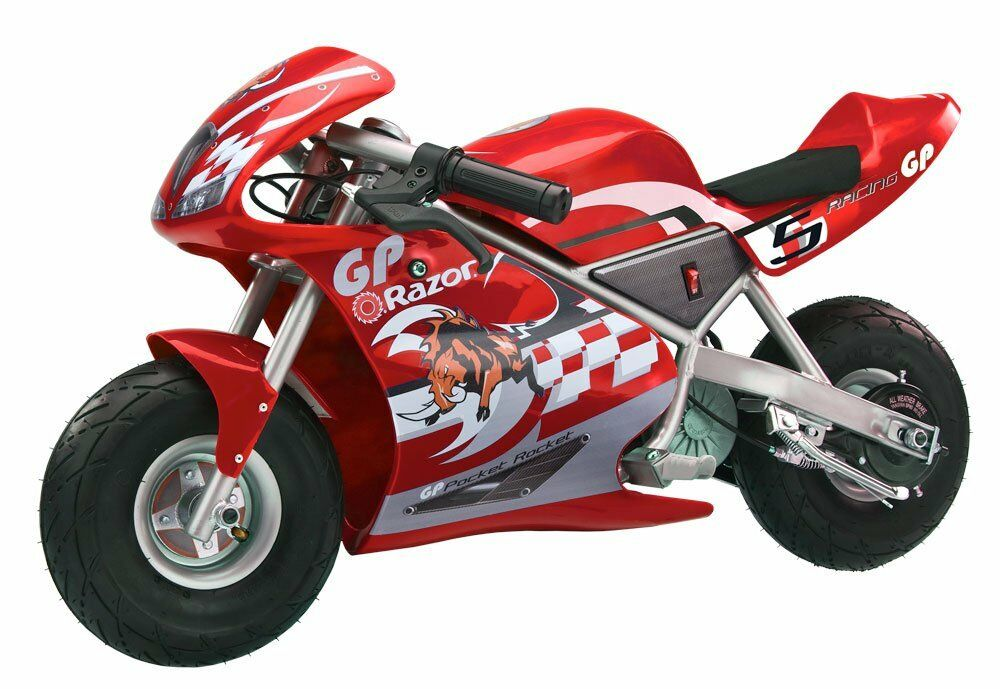 Razor Pocket Rocket 24 V Kids Mini Bike 15 MPH Ride On Electric ...