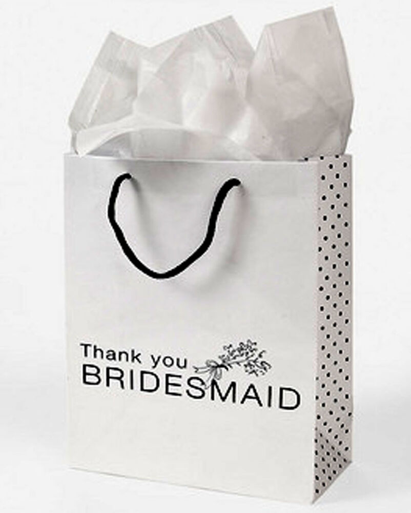 Thank You Gifts For Wedding Party: Thank You Bridesmaid Groomsman Wedding Gift Bags Bridal