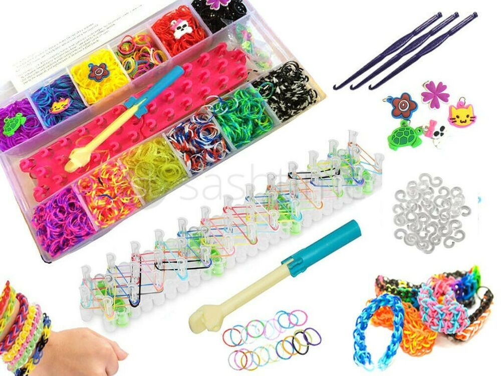 6000pcs Rubber Bands Rainbow Colourful Loom Set Children