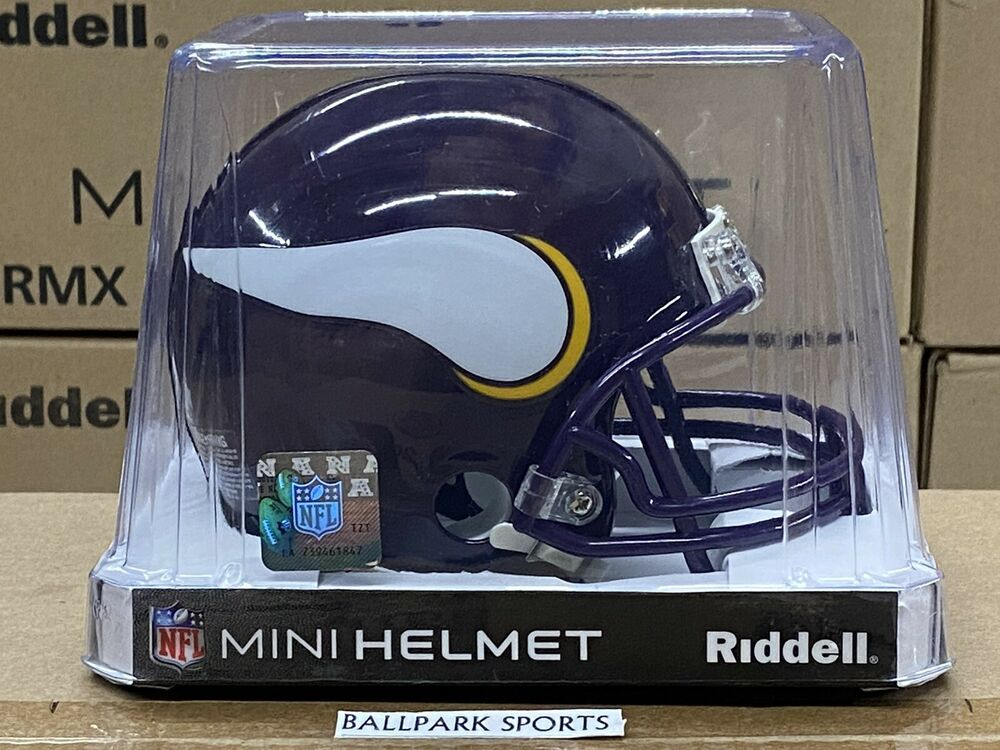Minnesota Vikings 2006 2012 Throwback Riddell Vsr4 Mini