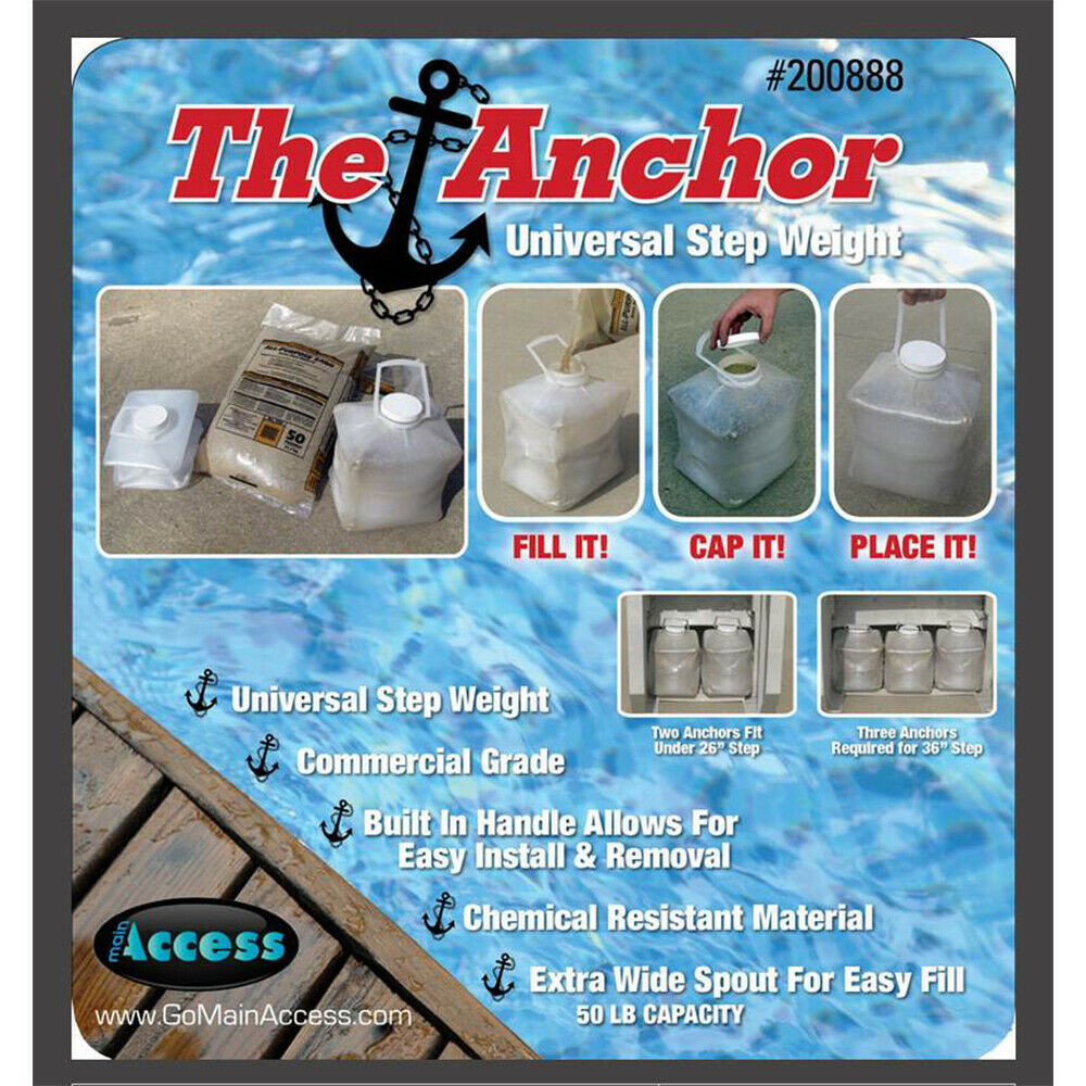 2 Main Access 200888 Universal Anchors Swimming Pool