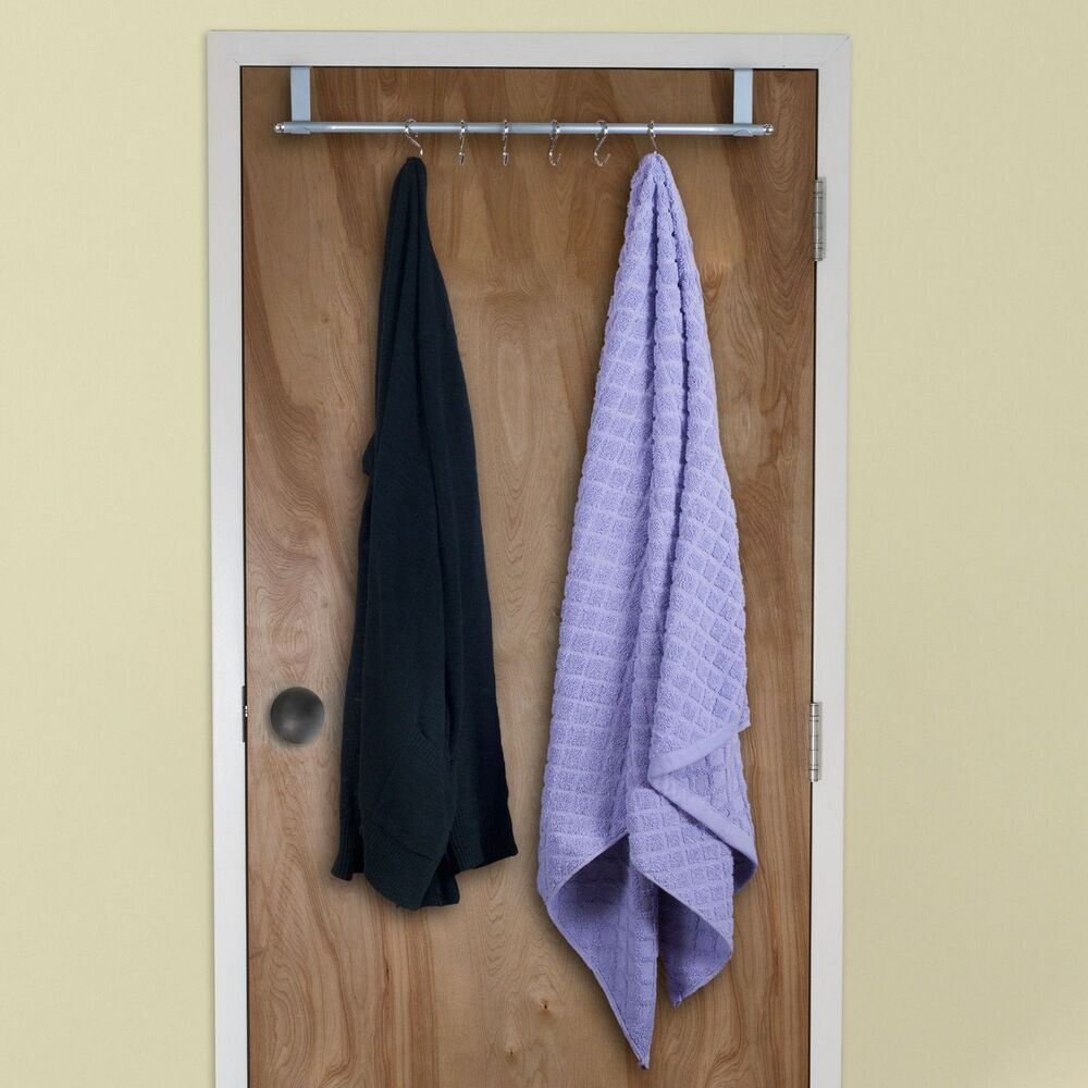 Over The Door Hanging Bathrobe Or Towel Rack For Bathroom Or Bedrooms Ebay