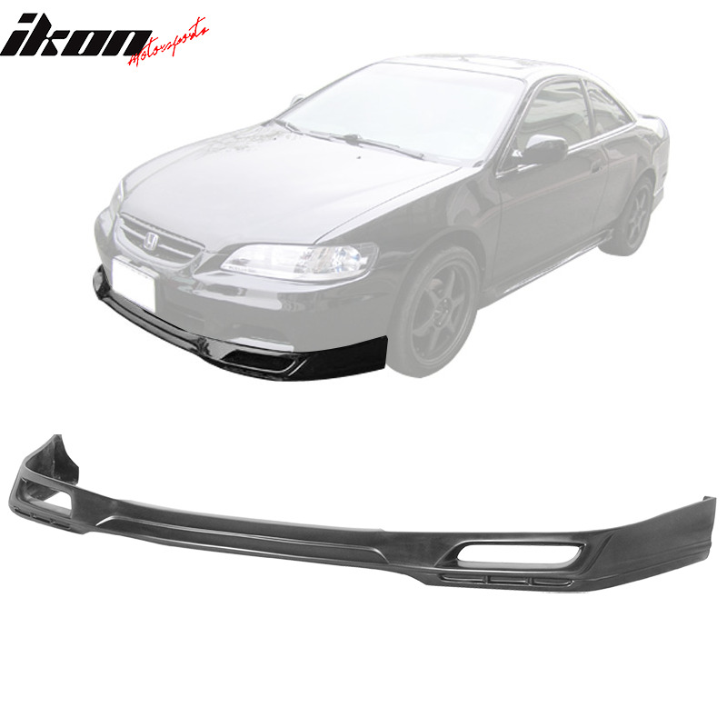 pu 98 02 honda accord coupe 2dr front bumper lip spoiler. Black Bedroom Furniture Sets. Home Design Ideas