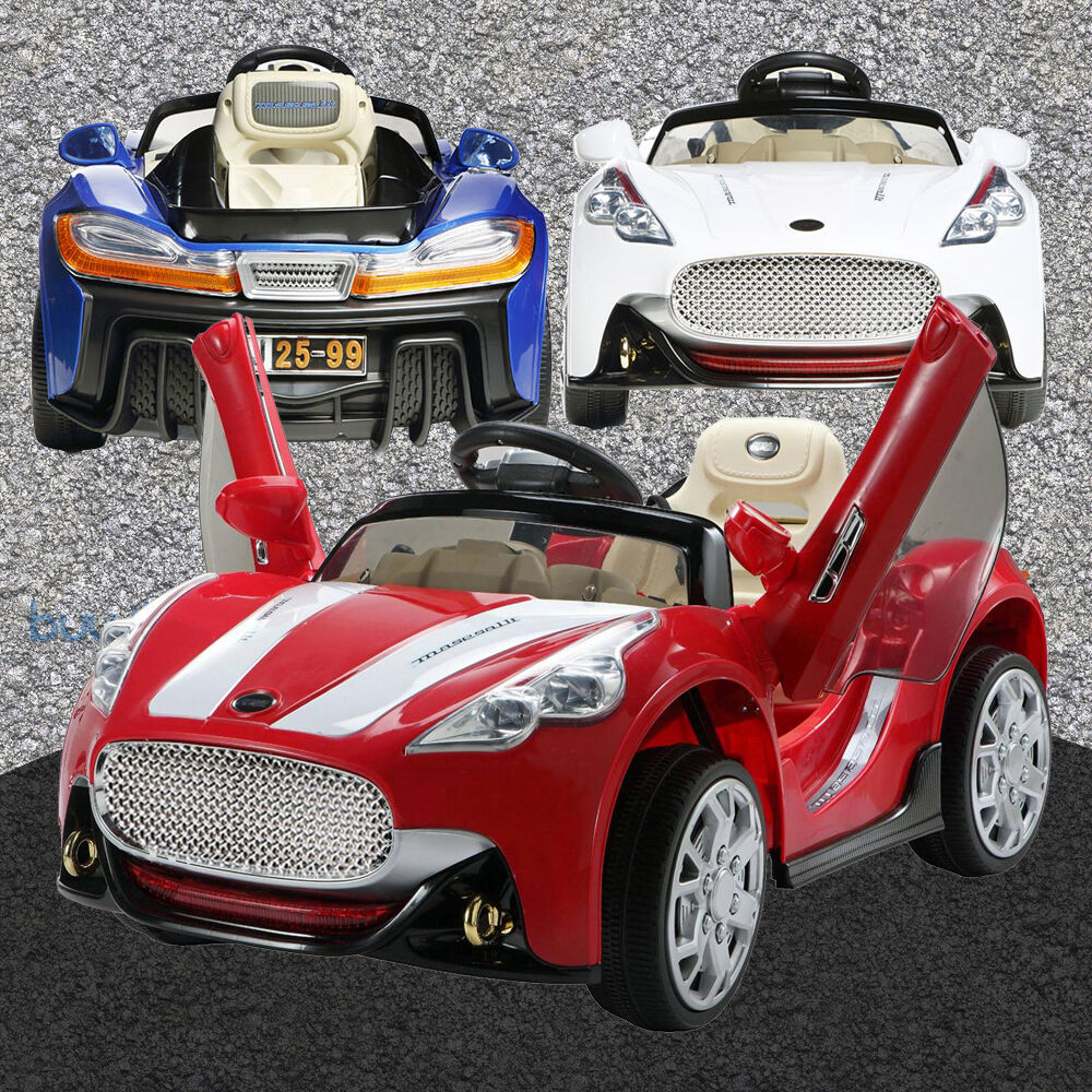 maserati kids ride on cars electric childrens 12v battery remote control toy car ebay