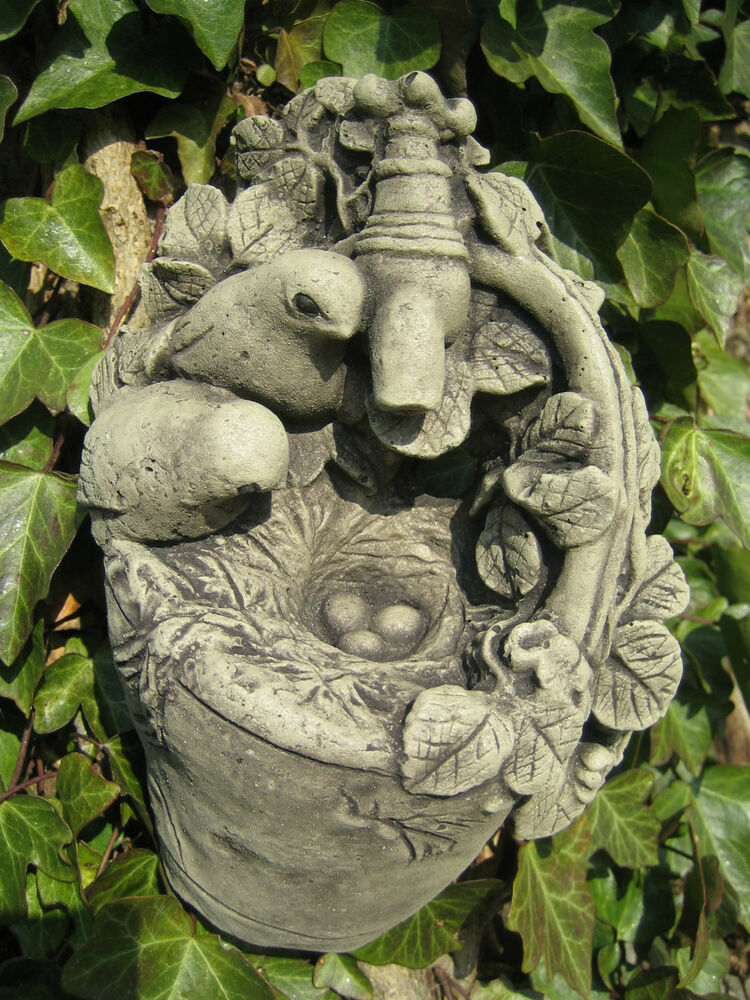 bird on tap stone garden ornament wall plaque many more. Black Bedroom Furniture Sets. Home Design Ideas
