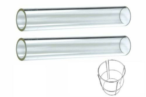 Quartz Glass Tube 2 Piece Replacement For 4 Sided Flame