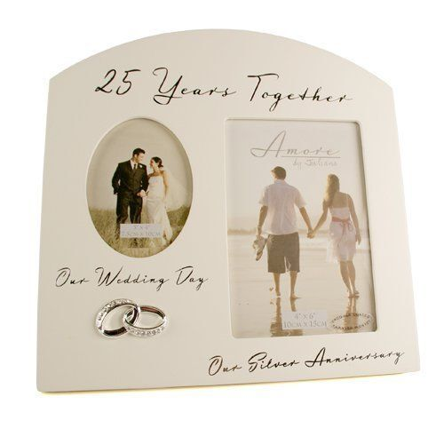 25th Wedding Anniversary Multi Photo Picture Frame Keepsake Gift ...