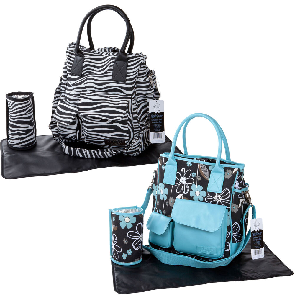 Yummy Mummy Large Designer Changing Bag Zebra Black Blue ...