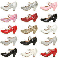GIRLS CHILDRENS KIDS PARTY WEDDING GEM MARY JANE STYLE STRAP SANDALS SHOES SIZE