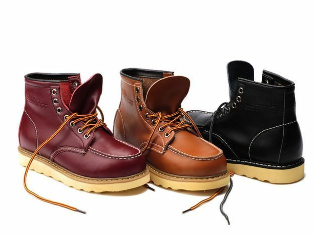 Cool Mens high top Wedge Sole Soft Toe lace up work ...