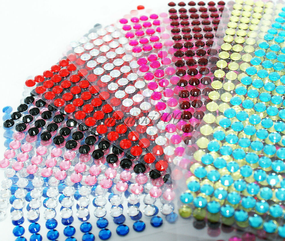 self adhesive stick gems diamante rhinestones sparkle
