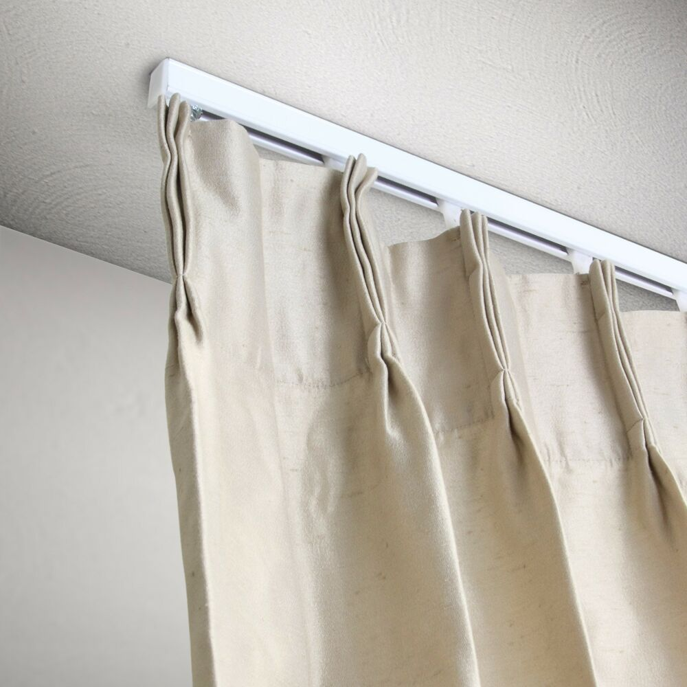 6 Ft Curtain Track Kit White Ceiling Mount Ebay