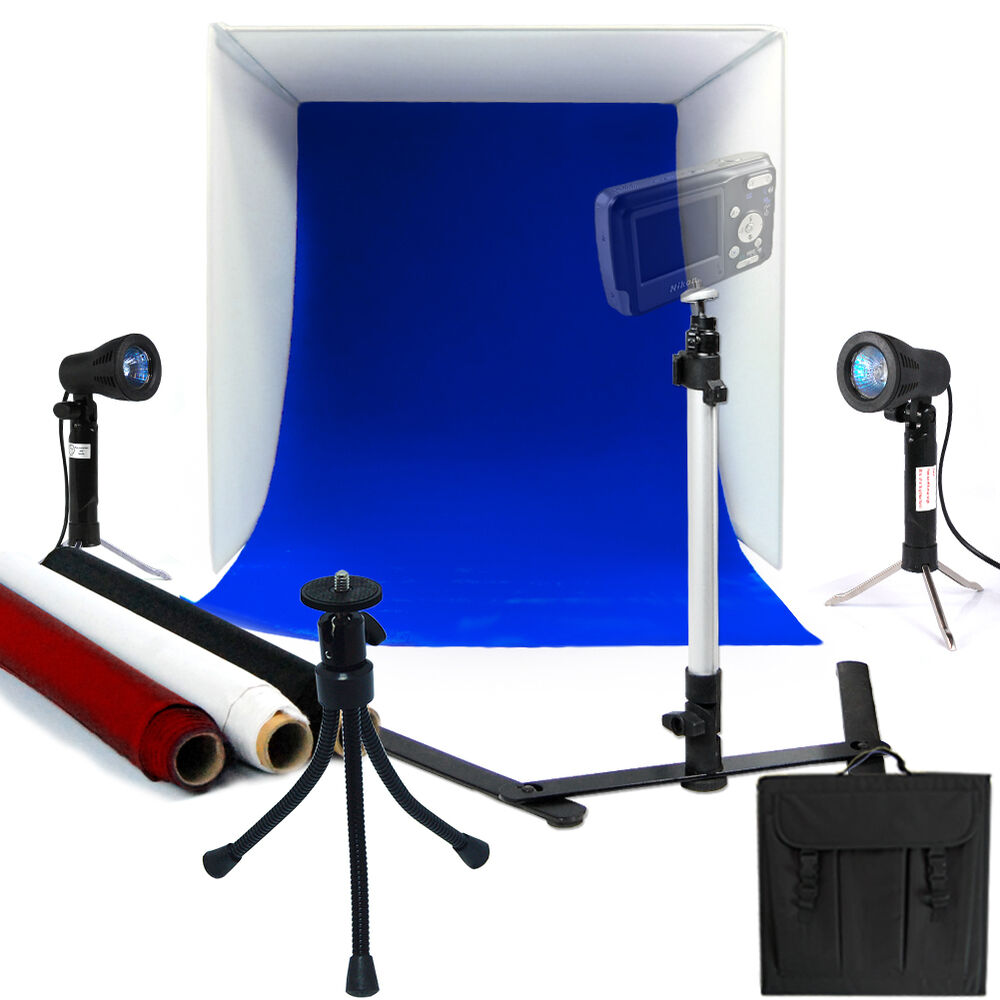 photo studio 16 photography lighting tent kit backdrop. Black Bedroom Furniture Sets. Home Design Ideas