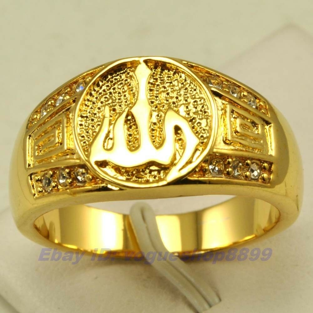 size 9 10 11 allah ring real rare 18k yellow gold gp solid. Black Bedroom Furniture Sets. Home Design Ideas