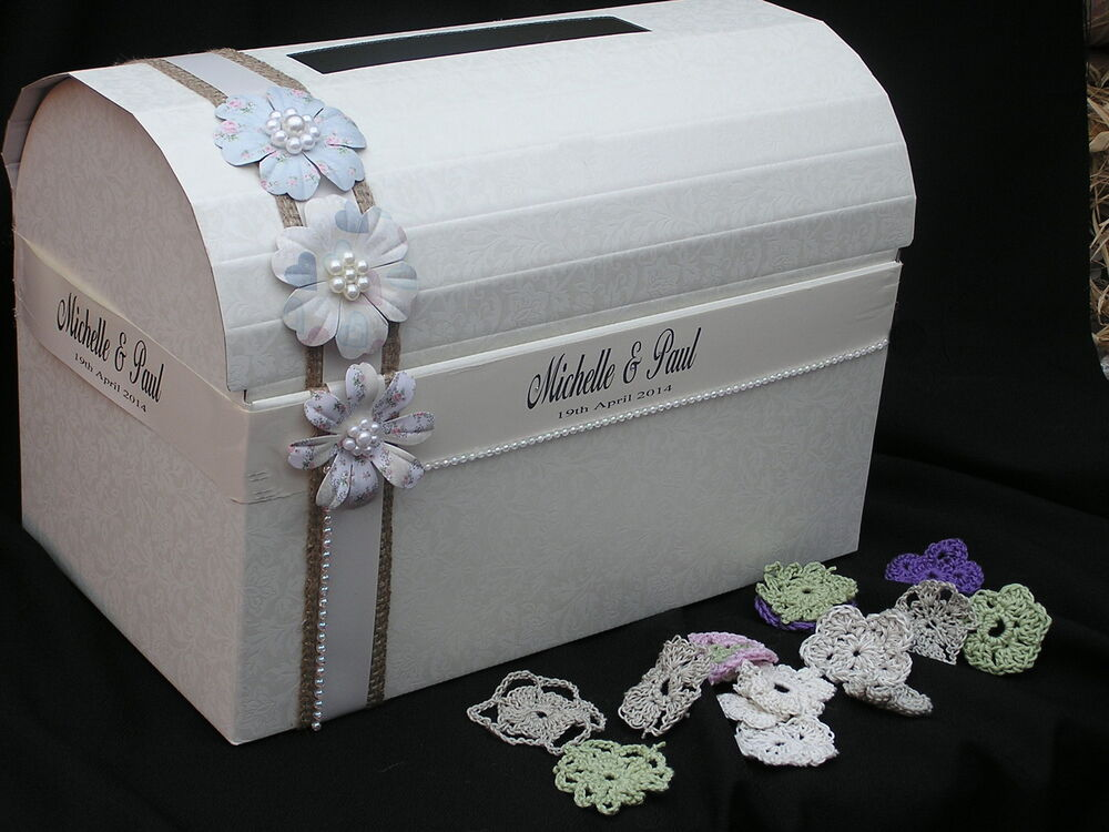 wedding chest post box xl wishing well shabby chic vintage favours centrepiece ebay. Black Bedroom Furniture Sets. Home Design Ideas