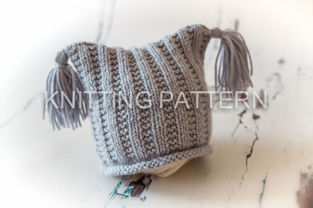 Flat Knitting Patterns : Knitting Pattern - Flat Rib Baby Beanie Hat - DIY Knit Instructions eBay