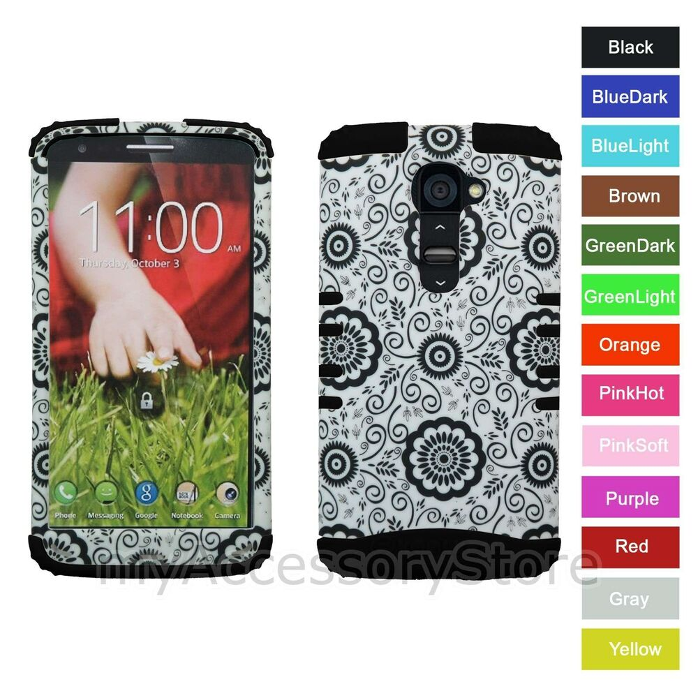 LG lg2 phone cases : Verizon LG G2 Flowers Design RKR Hardu0026Rubber ShockProof Rugged Armor ...