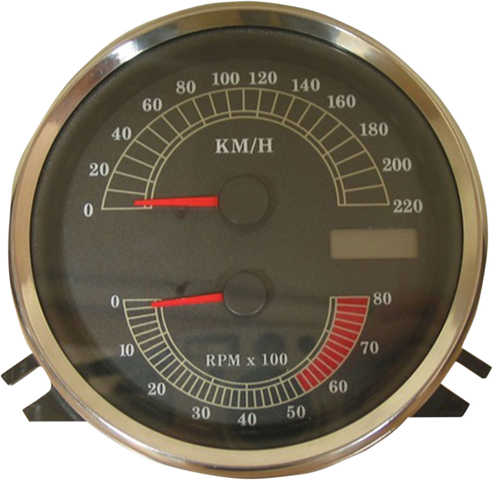 Electronic Speedometer Gauges : Drag specialties electronic km h speedo tach speedometer