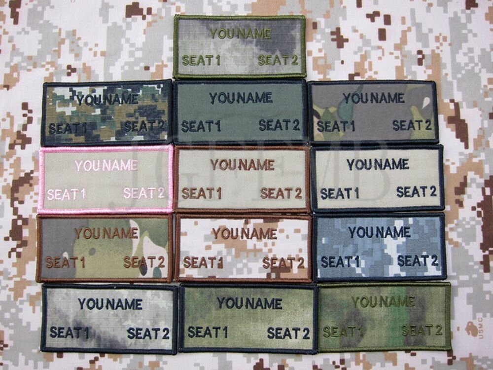 custom name tapes text brand morale tactics military embroidery patch ebay. Black Bedroom Furniture Sets. Home Design Ideas