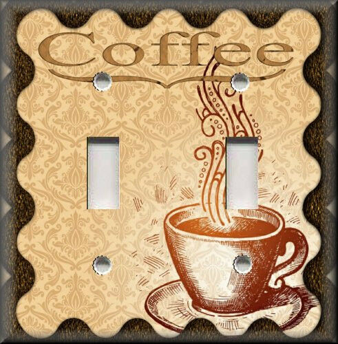 Light switch plate cover cafe coffee kitchen home for Home decorations on ebay