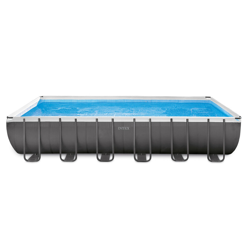Intex 24 x 12 x 4 3 foot ultra frame rectangular swimming pool set 28361eh ebay for Intex rectangular swimming pool