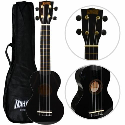 mahalo soprano ukulele black with case free delivery uk seller ebay. Black Bedroom Furniture Sets. Home Design Ideas