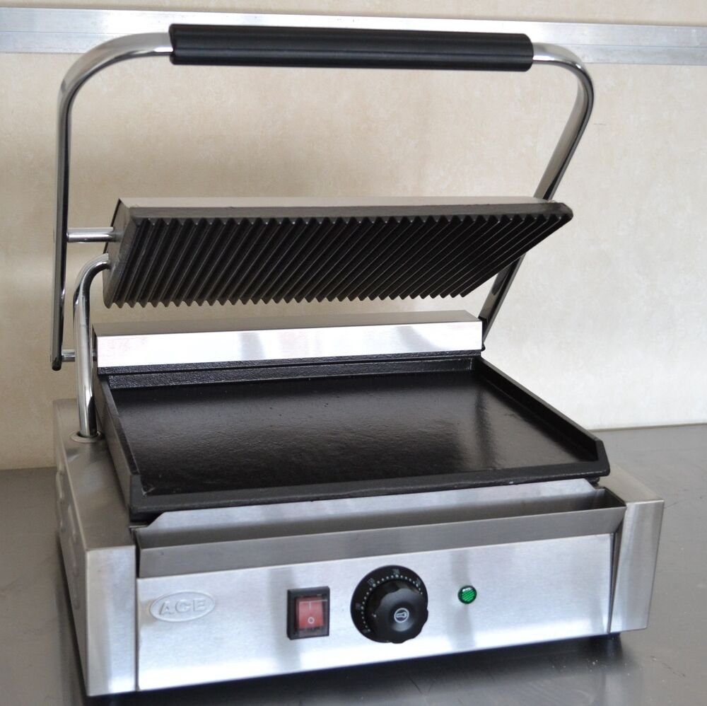 new commercial panini machine contact grill toaster. Black Bedroom Furniture Sets. Home Design Ideas