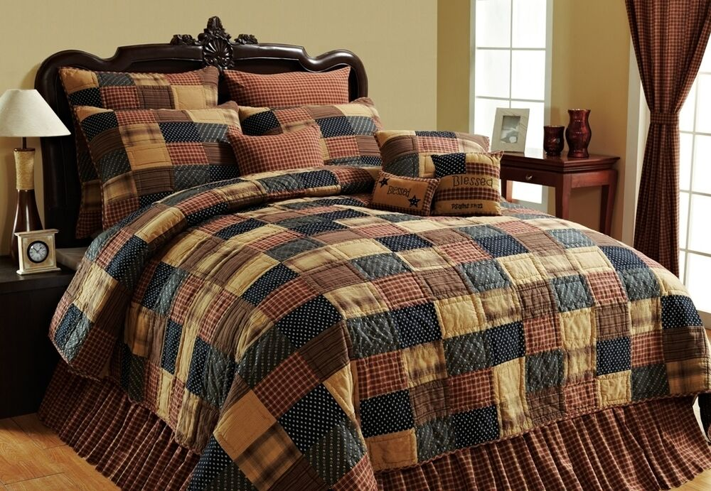Country Bedding Sets Queen: PATRIOTIC PATCH QUILT Twin Queen Cal King : PRIMITIVE