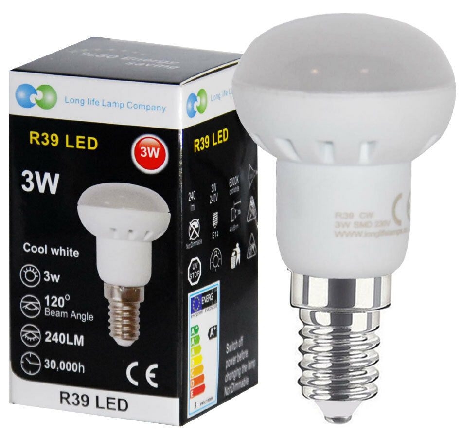 3w R39 Led E14 Replacement For Reflector Cool White Led