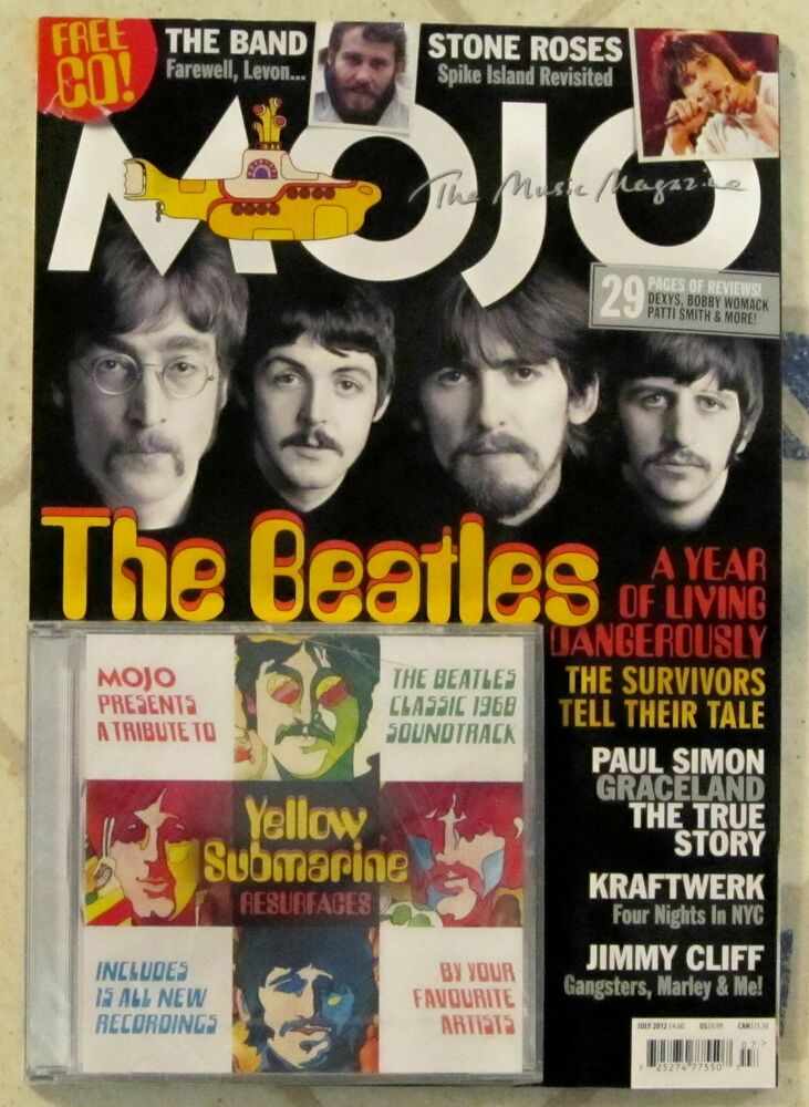 Mojo Magazine Amp Cd July 2012 Beatles Yellow Submarine