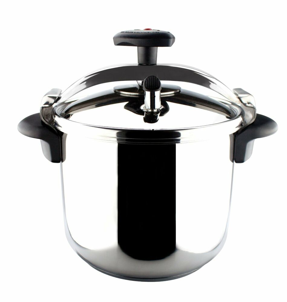 magefesa star r stainless steel pressure cooker 4 quart ebay. Black Bedroom Furniture Sets. Home Design Ideas