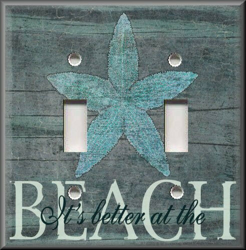 Light switch plate cover it 39 s better at the beach for Beach house decor items