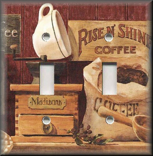 Light switch plate cover country store coffee country for Kitchen decor items