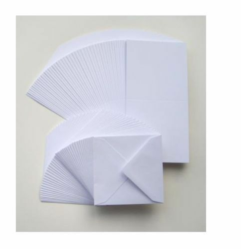 50 X 6 Quot X 6 Quot White Blank Cards 250gsm Envelopes 120gsm