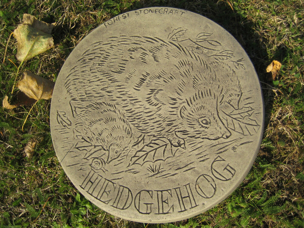 Stepping stone hedgehog garden ornament 57 other for Stepping stone designs garden layouts