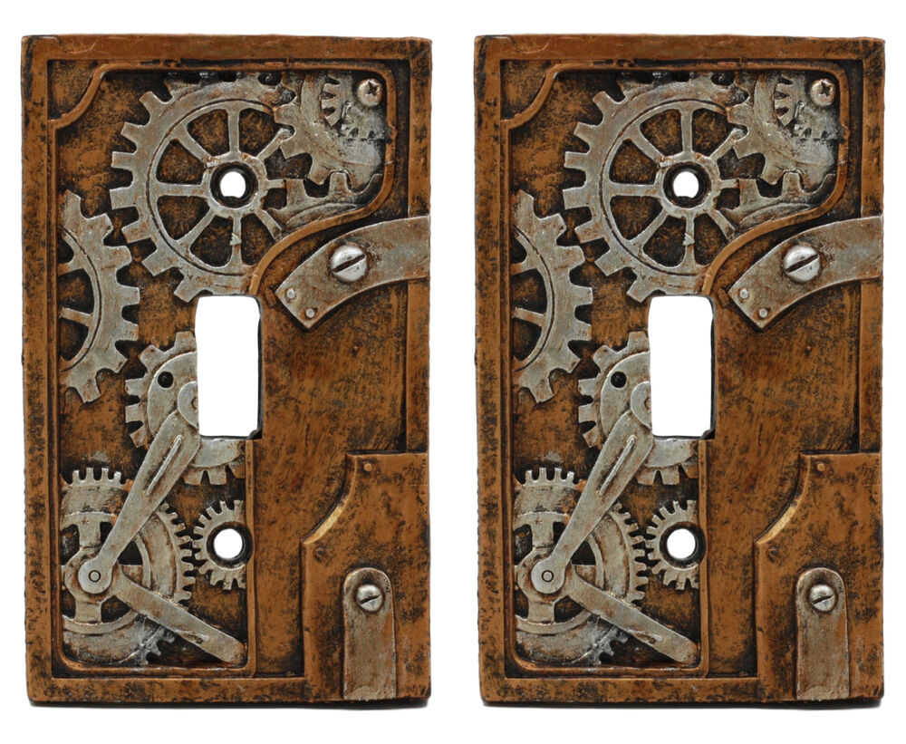 Steampunk Gearwork Clockwork Painted Standard Switch Plate