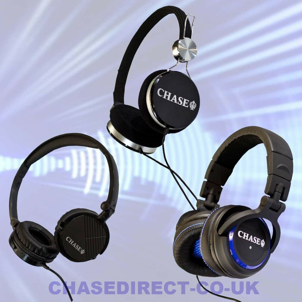 chase stereo headphones for digital piano electric guitar dj studio recording ebay. Black Bedroom Furniture Sets. Home Design Ideas
