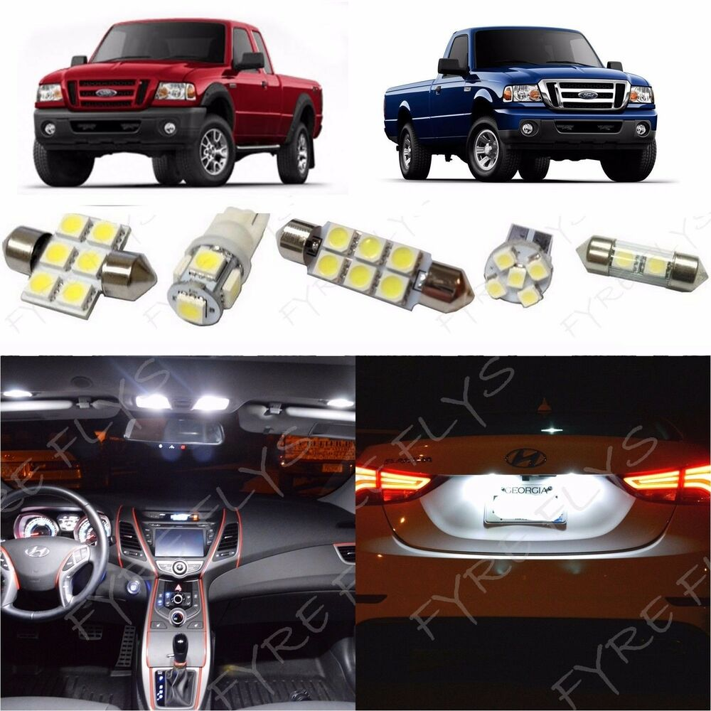 6x White Led Lights Interior Package Kit For 1998 2011 Ford Ranger Fr1w Ebay