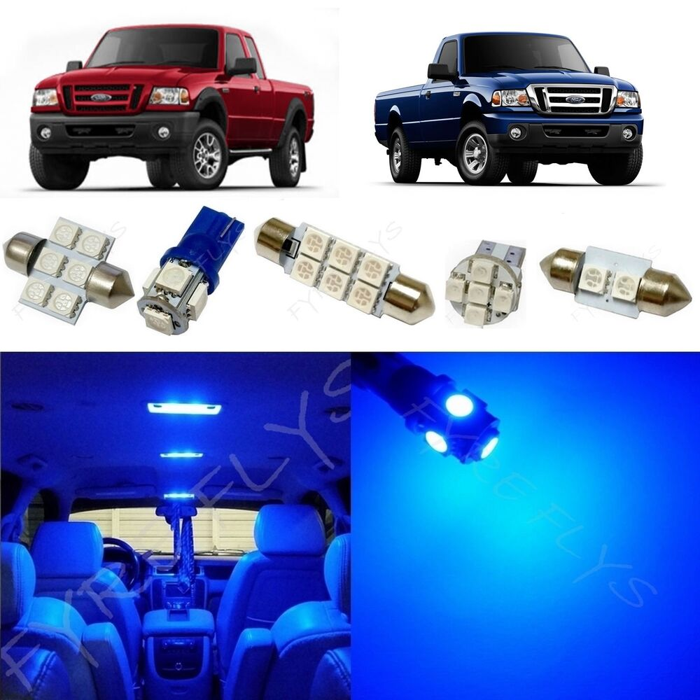 6x Blue Led Lights Interior Package Kit For 1998 2011 Ford Ranger Fr1b Ebay