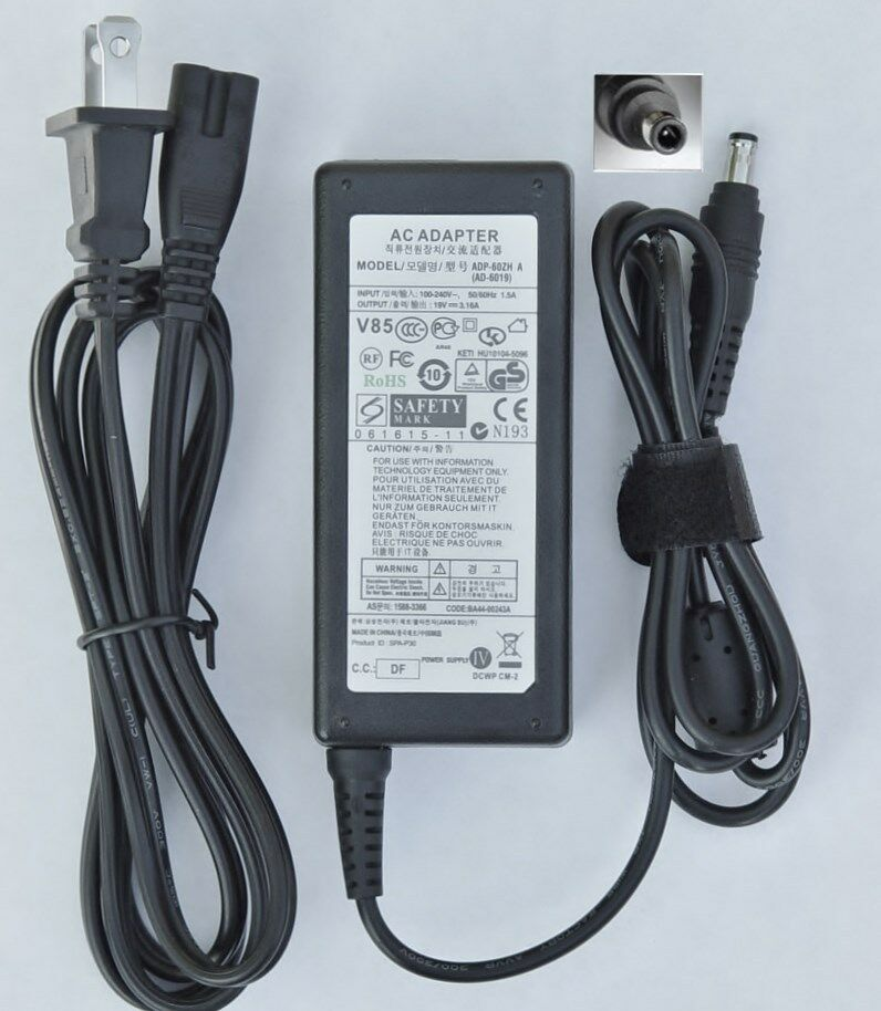 Ac Adapter Charger For Samsung R580 11 Np R580 Jbb1us R580