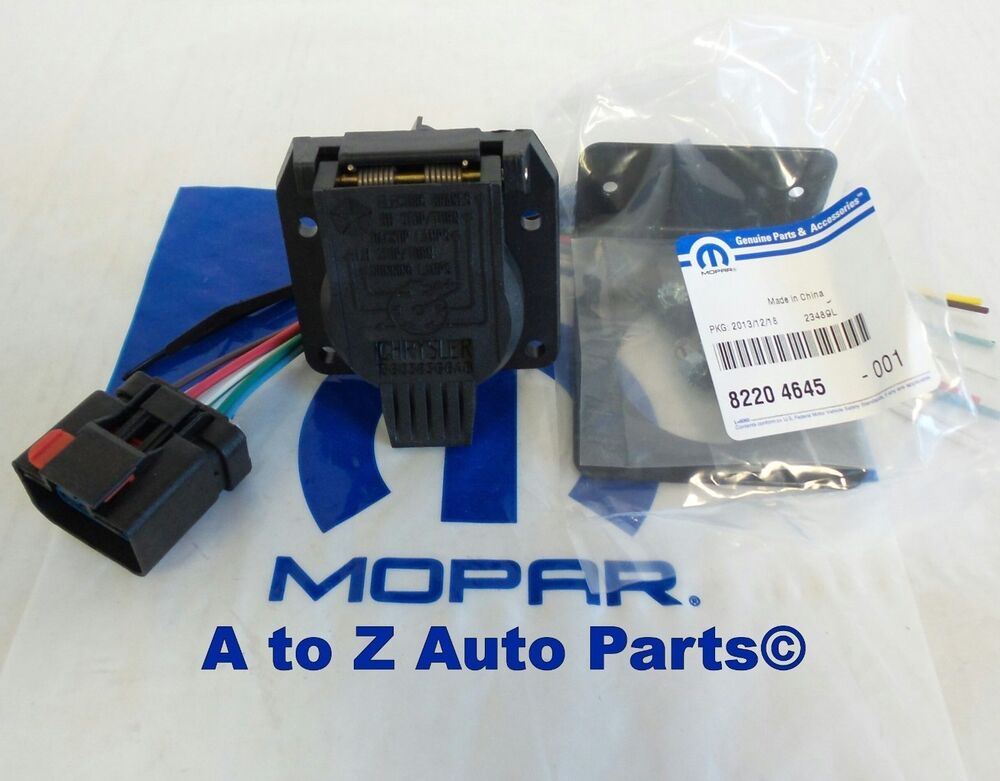 dodge ram dakota durango jeep 7 way trailer tow wiring harness repair kit mopar ebay