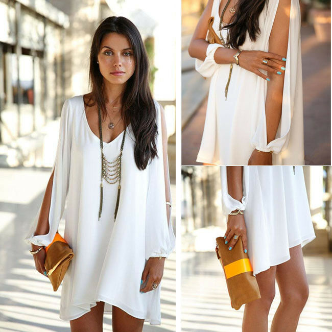 Chic Women Loose Summer Casual Cut Out Party Evening