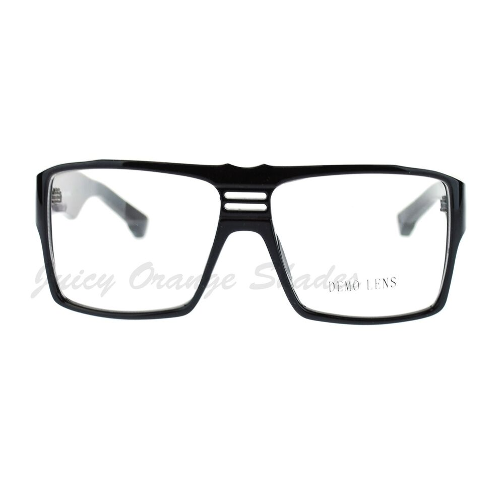 Eyeglasses Frame Square : Super Nerd Clear Lens Eyeglasses Boxy Square Frame Glasses ...