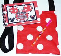 Personalized DISNEY MINNIE MOUSE Autograph Book with Match Bag & Pen