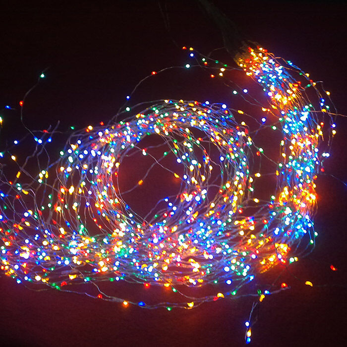 2m 19 copper wire 380 led light string for party wedding. Black Bedroom Furniture Sets. Home Design Ideas