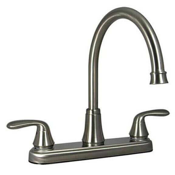 mobile home kitchen sink plumbing 8 quot brush nickel rv mobile home marine hybrid kitchen sink 9186