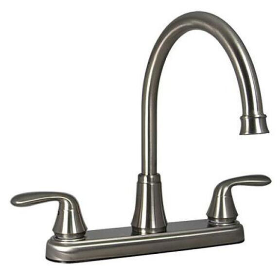 "8"" Brush Nickel RV Mobile Home Marine Hybrid Kitchen Sink"