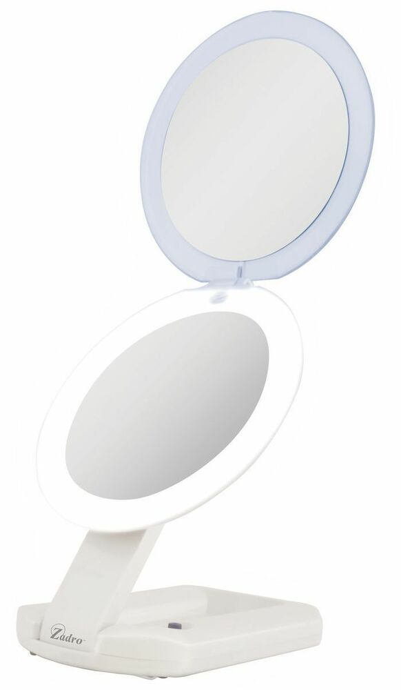 1x 10x cordless led lighted ultimate compact travel make up mirror. Black Bedroom Furniture Sets. Home Design Ideas