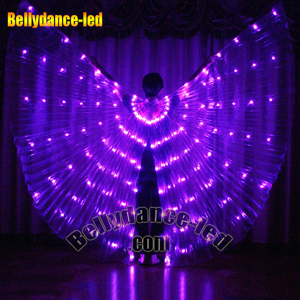 126 LEDs isis wings rechargeable belly dance club light up ...